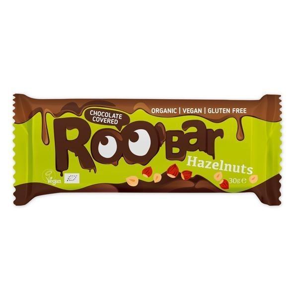 Haselnussriegel umhüllt mit Schokolade