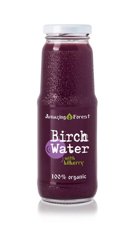 Birkenwasser mit Heidelbeere 250ml