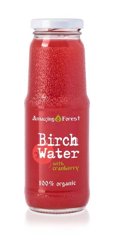 Birkenwasser mit Cranberry 250ml
