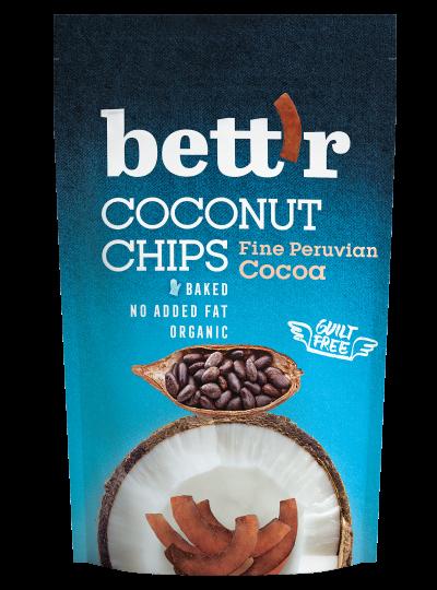 Bio Kokosnusschips mit Kakaopulver 40g