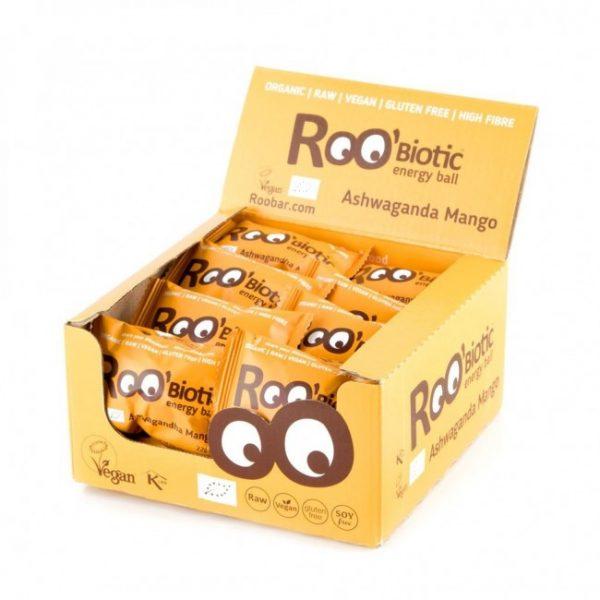 RooBiotic Energy Ball Ashwagandha Mango 22g