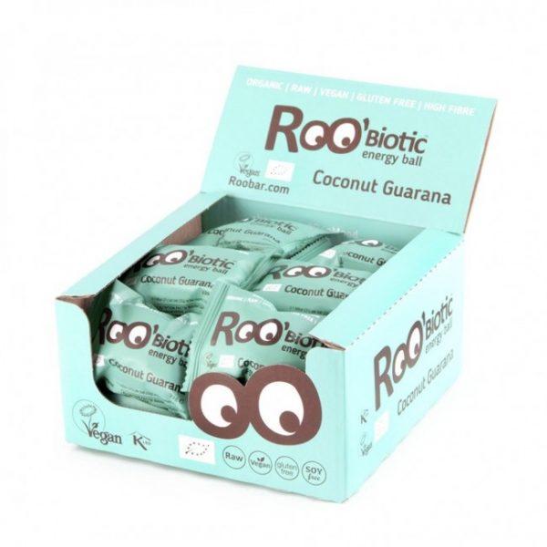 RooBiotic Energy Ball Kokosnuss Guarana 22g